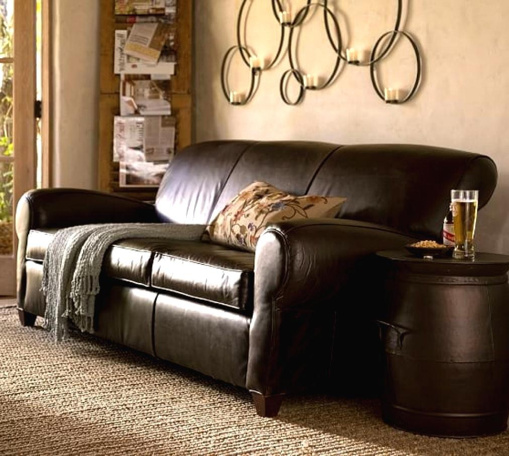 Pottery Barn Manhattan Leather Sofa Droughtrelief Org