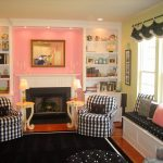 Buffalo check upholstery fabric as slipcover of sofas