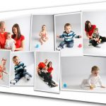 Canvas family picture collage idea
