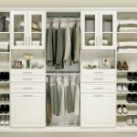 Complete White Closet Storage Cabinet In Wooden Style