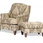 Best Accent Chair With Grey Patterned Ottoman