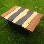 Cool Coffee Table Idea With Natural Schemed Wood Planks Top