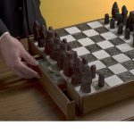 Cool hidden box for valuables under chessboard