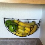 Corner Wall Mounted Fruit Basket For Apples And Bananas