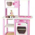 Cute pink and white kids kitchen toy idea