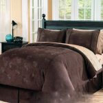 Dark brown cal king bed comforter idea