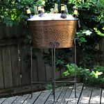 Decorative Pattern Of Beverage Bucket With Stand