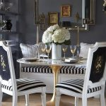Dining Room Ikea Tulip Table With Luxury Design Of Chairs And Stylish Mirror On Wall