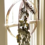 Dream catcher idea as Christmas window ornament