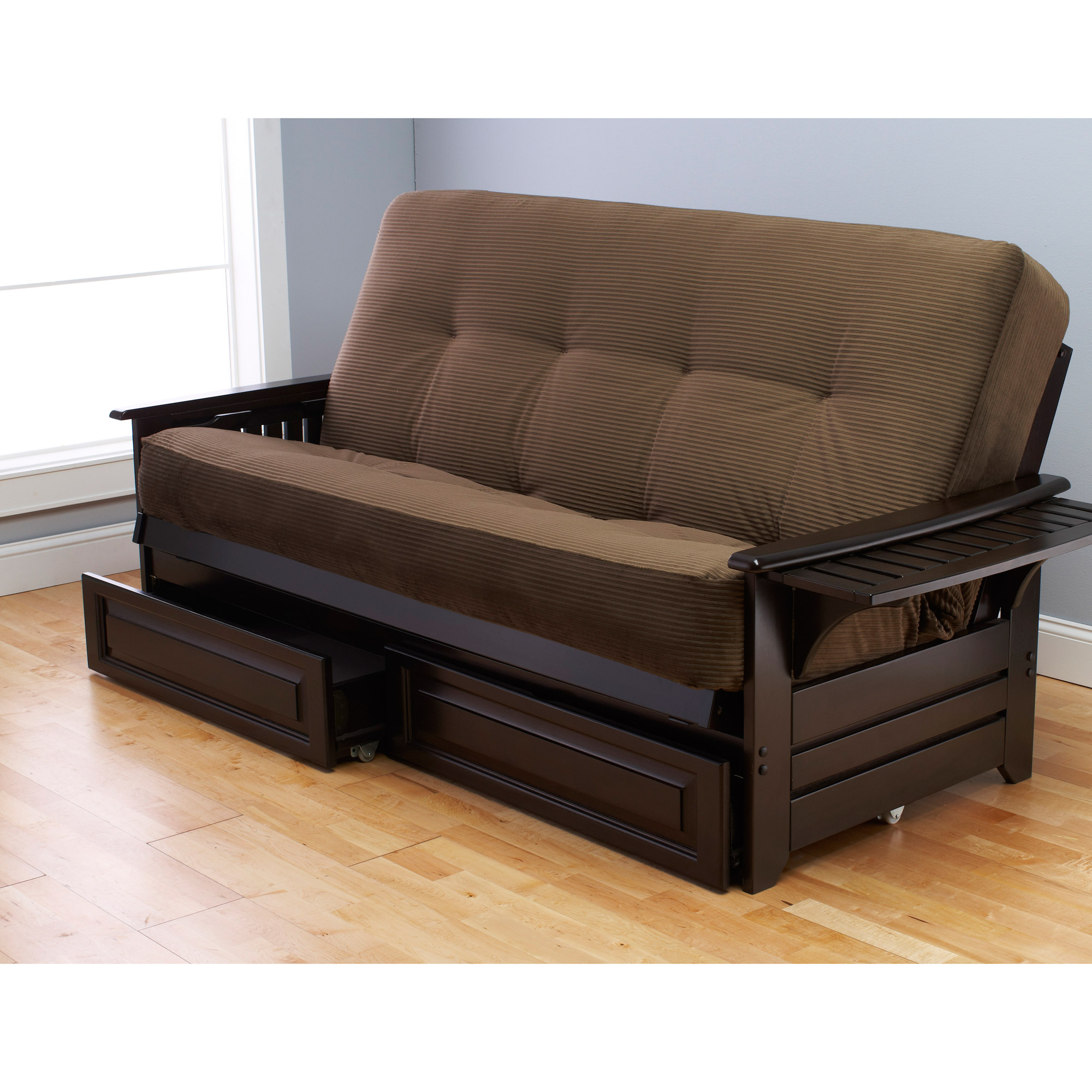 fortable futon couch