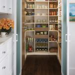 Food Organizing With Walk In Pantry Shelving Systems And White Kitchen Cabinet