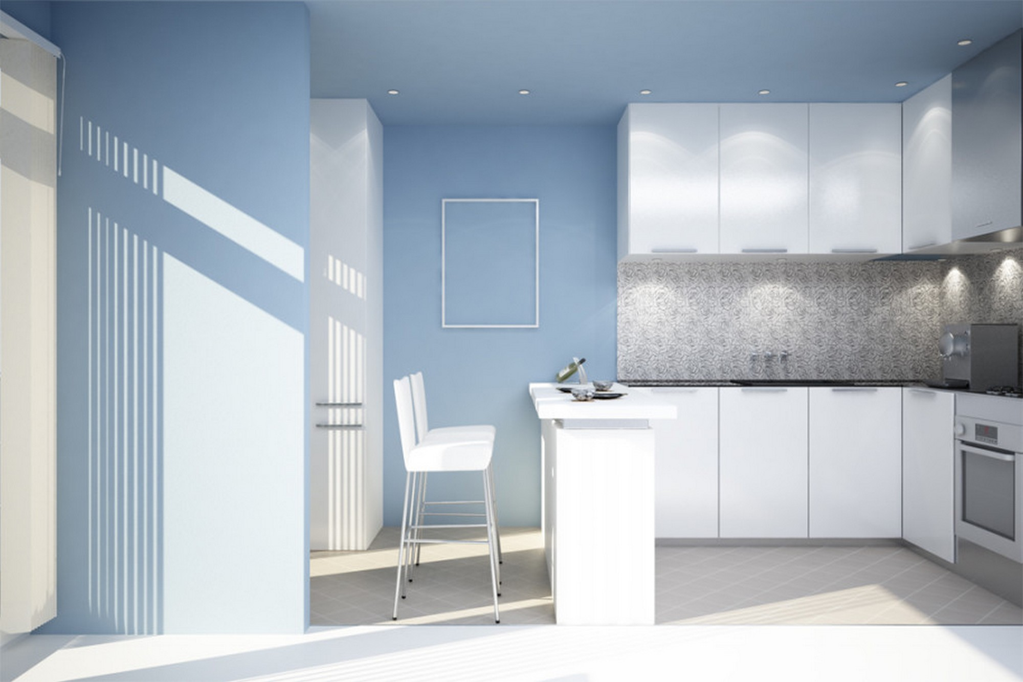 Pastel Light Blue Room Walls