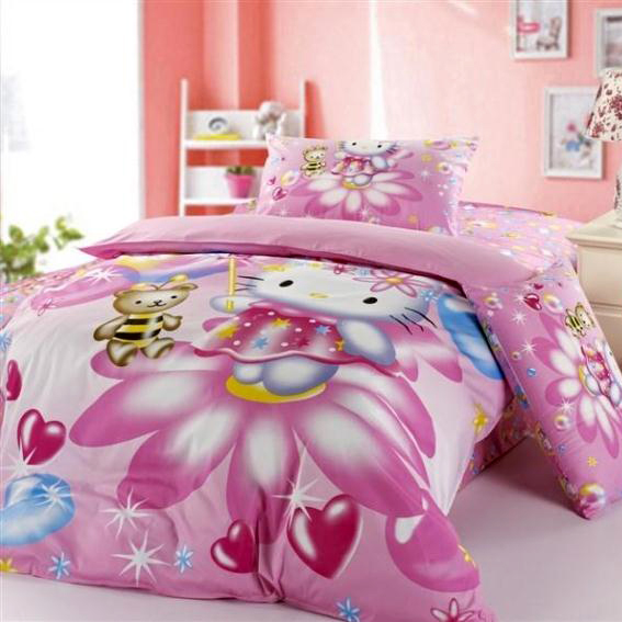 toddler full size bed or toddler size bed what s the best 16748 | full size toddler bed idea with hello kitty bed comforter set in pink
