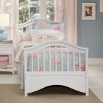 Full sized bed frame in white for toddler