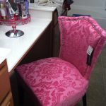 Fully pink vanity chair idea