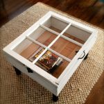 Funky Coffee Table With Storage And Clear Glass Surface