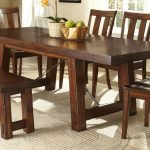 Furnished Wooden Dinette Sets With Bench And Cool Rug
