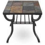 Grey Ceramic Design Of Slate End Tables