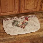 Halfmoon Rooster Kitchen Rugs On Hardwood Floor