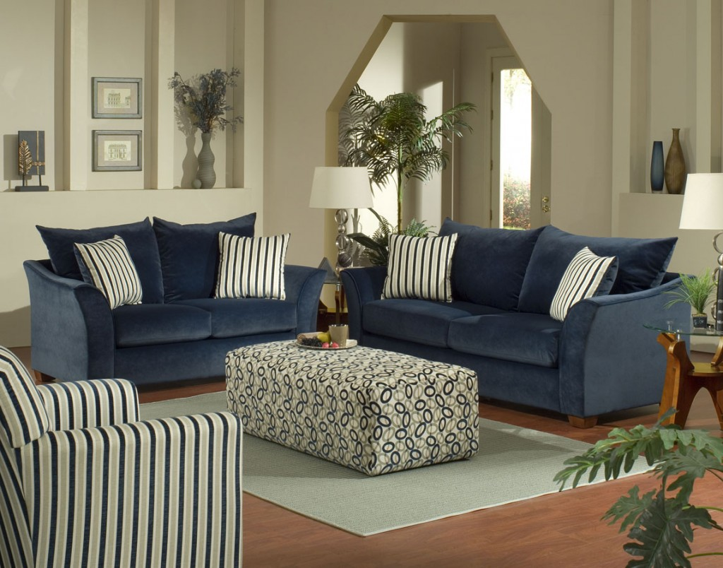 Navy Sofa Pillows