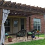 Indoor Outdoor Curtains For Front Home With Wooden Frame And Patio Furniture