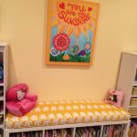 Kids Bench Cushions Ikea With Double White Cabinet And Bookshelves Plus Colorful Frame And Bench Pad