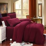 King size bed comforter set in deep purple