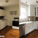 Kitchen Makeovers On A Budget With White Cabinet And Elegant Style