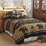 Lake House Bedding Set Idea In Natural Theme A Bed Frame With Rustic Headboard