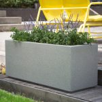 Large Planters For Outdoors With Yellow Patio