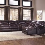 Leather Big Sectional Sofa With White Fur Rug For HTL Furniture Reviews