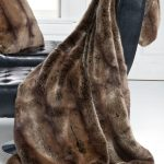Leather Couches With Faux Fur Blanket Queen