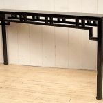 Long Narrow Dark Wooden Shallow Console Table