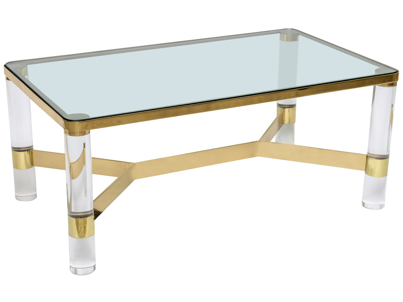 Lucite Coffee Table Ikea With Unique Gold Base