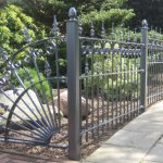 Metal decorative fences for home