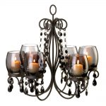 Midnight Elegant Real Candle Chandelier