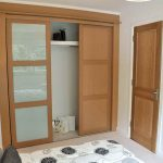 Mirrored Wooden Bifold Closet Doors Ikea