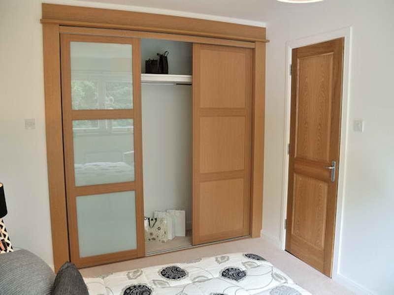 Mirrored Wooden Bifold Closet Doors Ikea