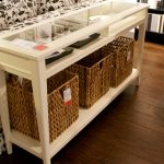 Modern Extra Long Sofa Table With White Design And Glass On Top Plus Racks