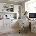 Modern Home Office Ideas With White Drawers And Cabinet