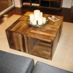 Modern butcher block coffee table idea