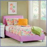 Pink toddlers bed frame in full size
