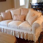 Pretty Slipcovers For Leather Couches With Beautiful Pillow And Rug