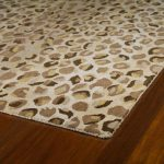 Printed Cheetah Print Rugs On Hardwood Floor