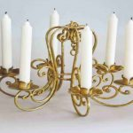 Real Candle Chandelier With Gold Design