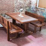Real Wood Of Dining Room Benches With Backs