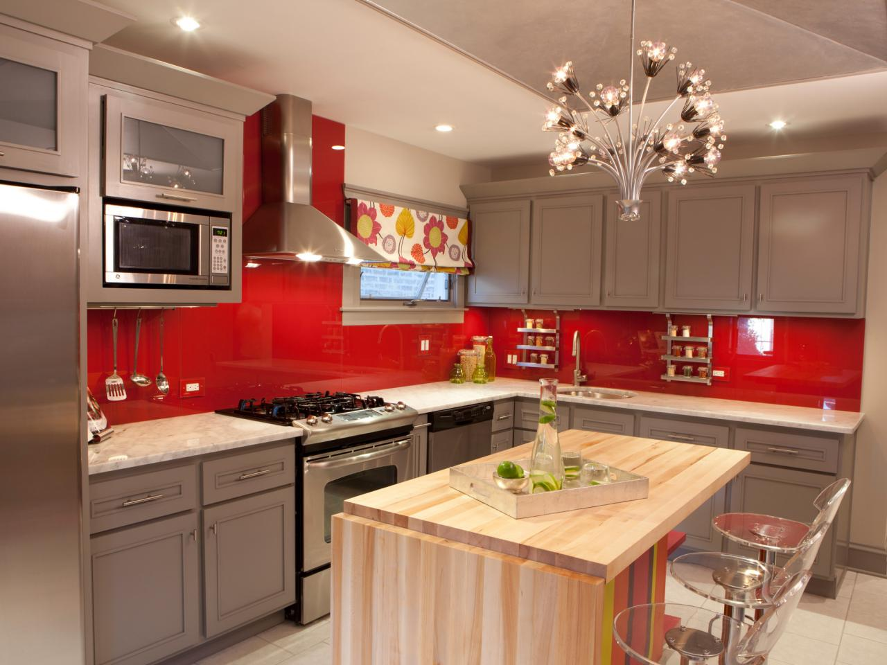 mesmerizing red white kitchen cabinets | Feel a Brand New Kitchen with These Popular Paint Colors ...