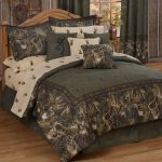 Reservable Lake House Bed Comforter Set In Dark Grey And White