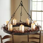 Round Real Candle Chandelier With Rustic Decoration