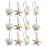 Sea Shower Curtain Hooks Design